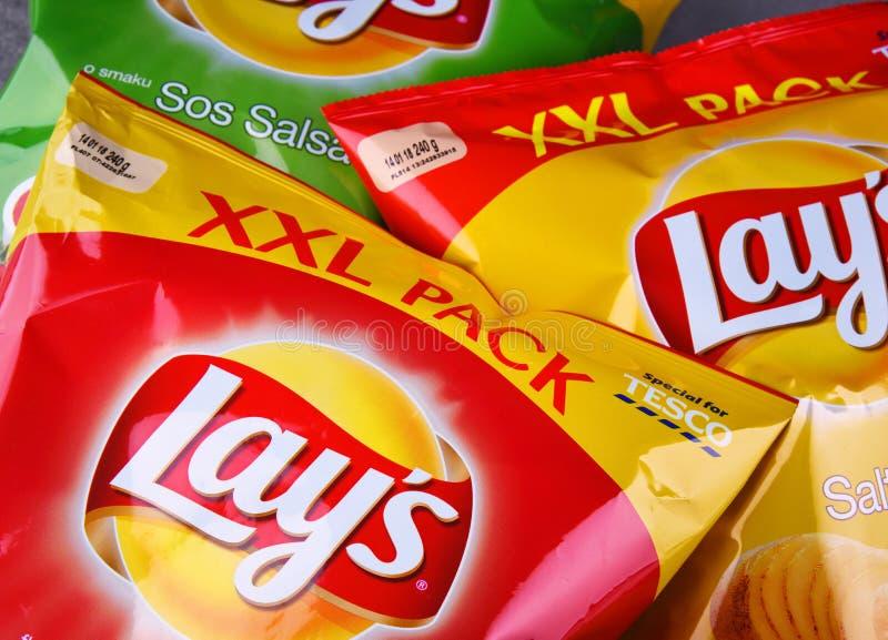 De pakketten van legt chips royalty-vrije stock afbeeldingen