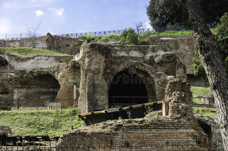 De Palatinoheuvel blijft, Rome stock afbeeldingen