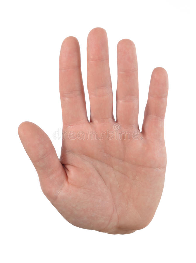De palm van de hand stock foto's