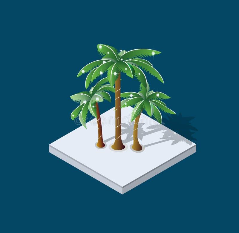 De palm van de winterkerstmis royalty-vrije illustratie
