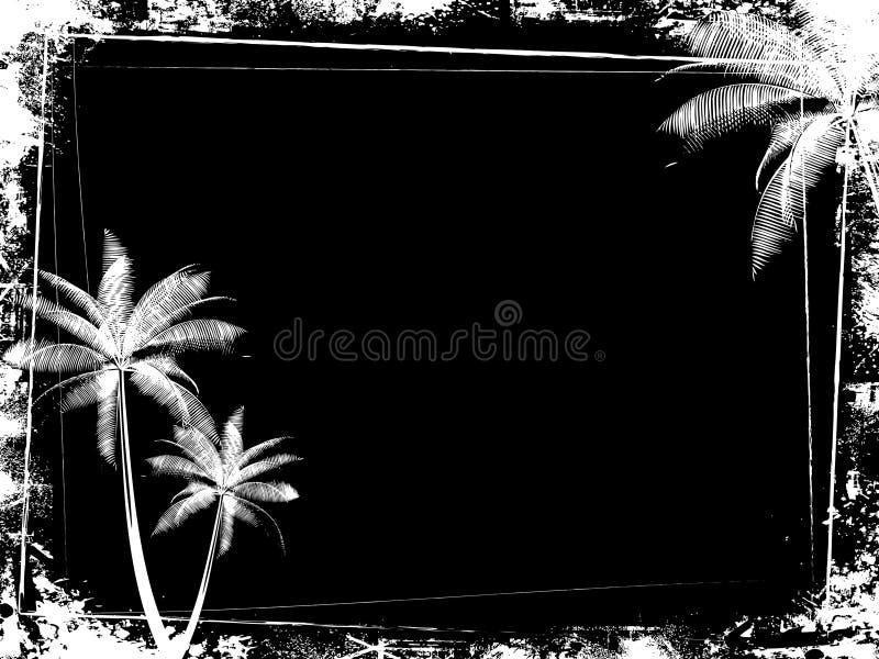De palmachtergrond van Grunge stock illustratie