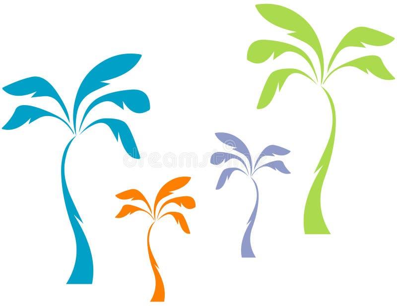 De Palmen van de pastelkleur stock illustratie