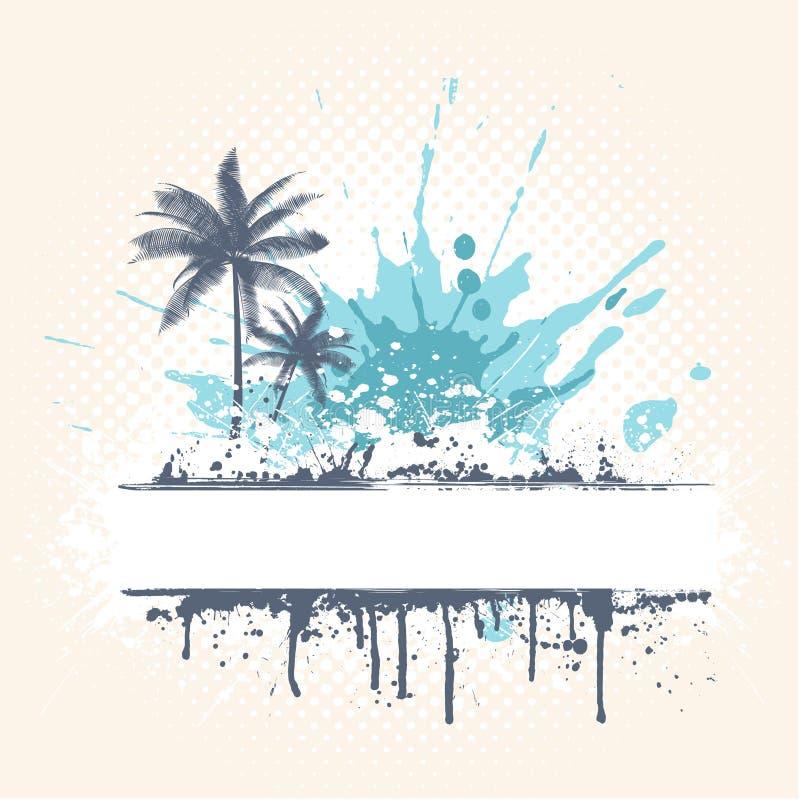 De palmen van Grunge royalty-vrije illustratie