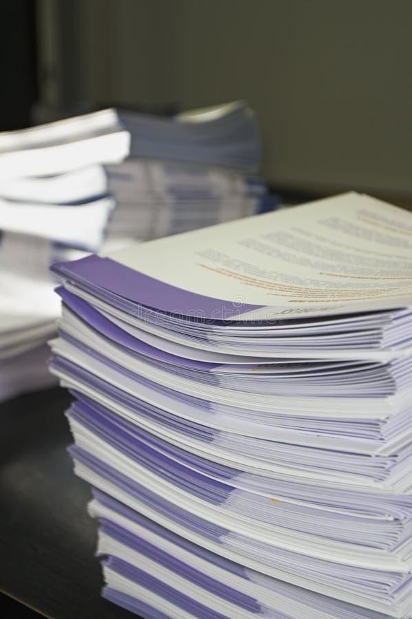 De Pamfletten van de folder stock afbeelding