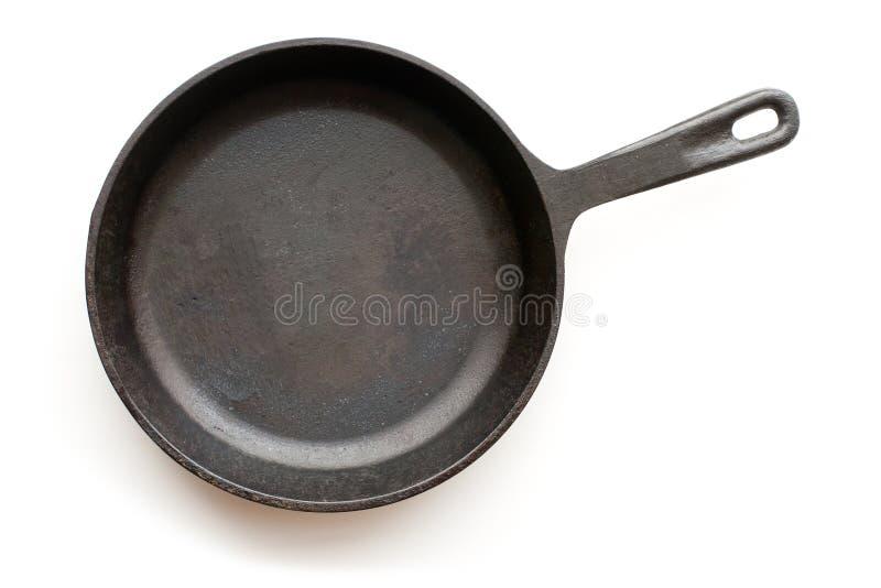 De pan van het gietijzer stock foto
