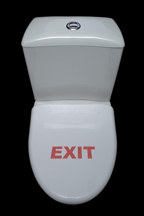 De pan van het toilet met pret stock fotografie