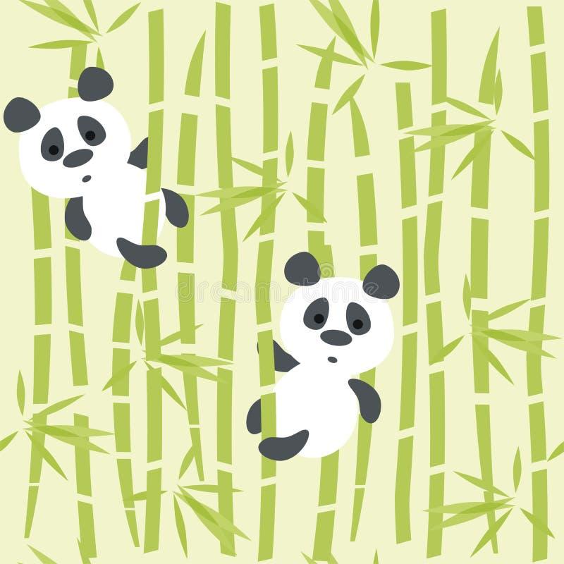 De panda draagt vector illustratie