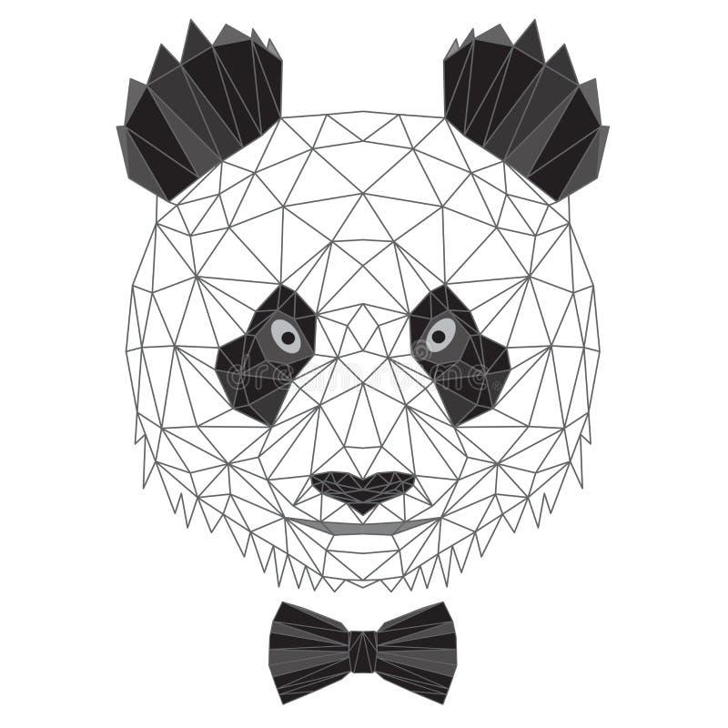 De panda draagt portret royalty-vrije stock foto's