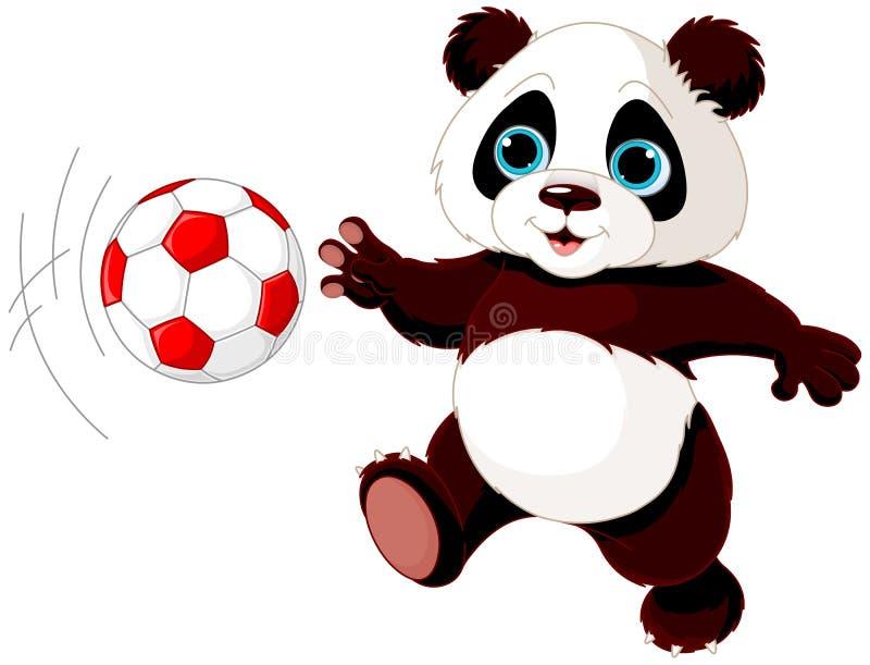 De panda raakt de bal royalty-vrije illustratie