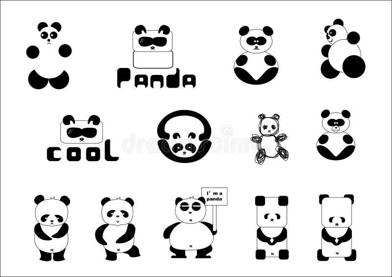De panda van het beeldverhaal royalty-vrije illustratie
