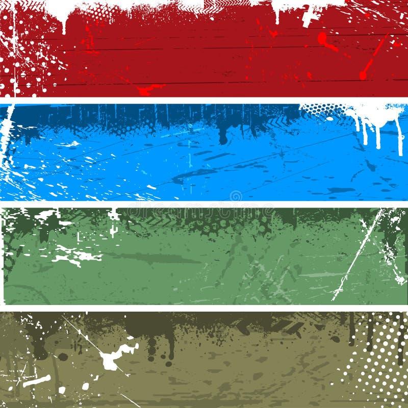 De panelen van Grunge vector illustratie