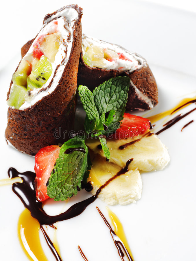De Pannekoeken van de chocolade royalty-vrije stock afbeelding