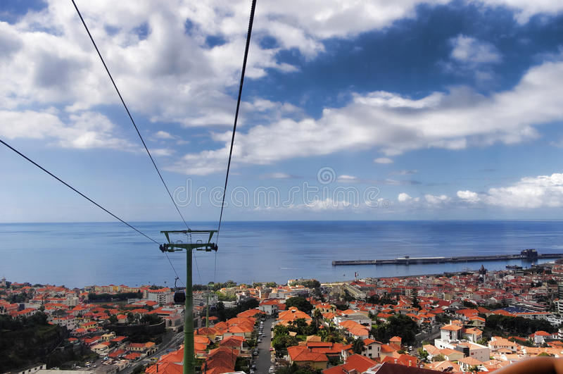 De panoramamening voor Funchal royalty-vrije stock afbeelding