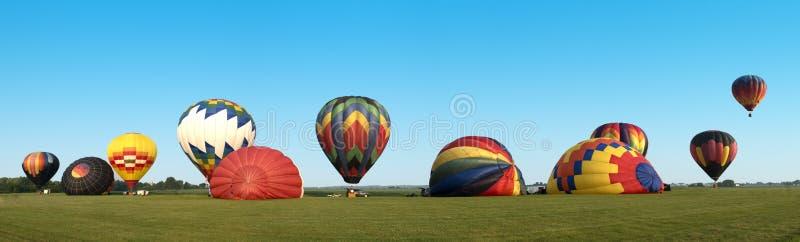 De Panoramische Banner van Panoama van de hete Luchtballon royalty-vrije stock foto