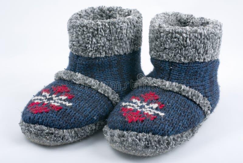 De pantoffels van de winter stock foto