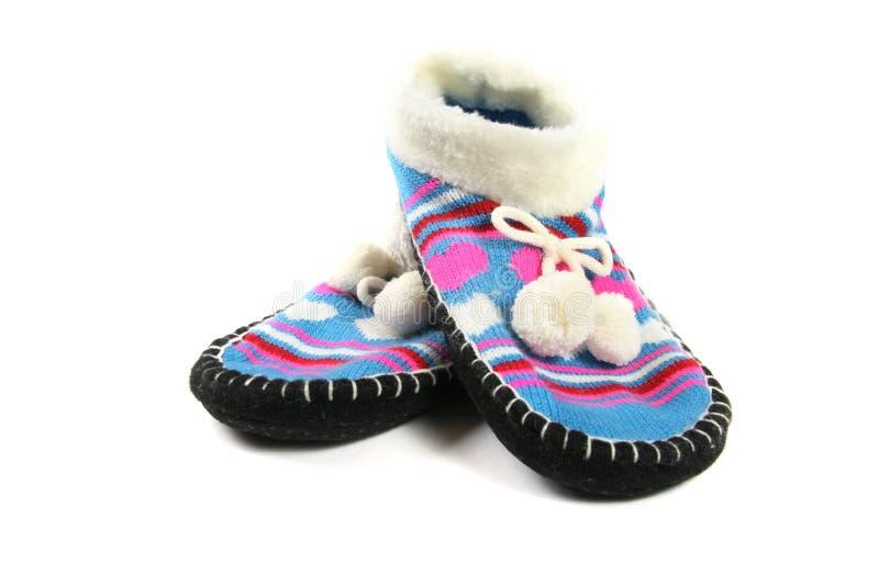 De pantoffels van de wol stock fotografie