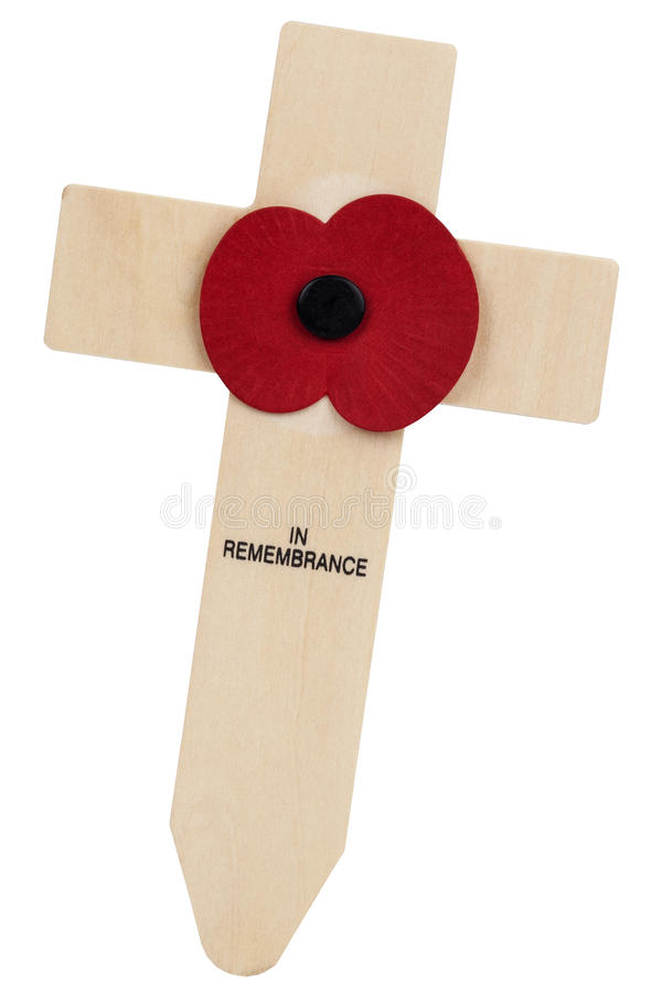 De Papaver van de herinneringsdag - het Verenigd Koninkrijk stock foto's
