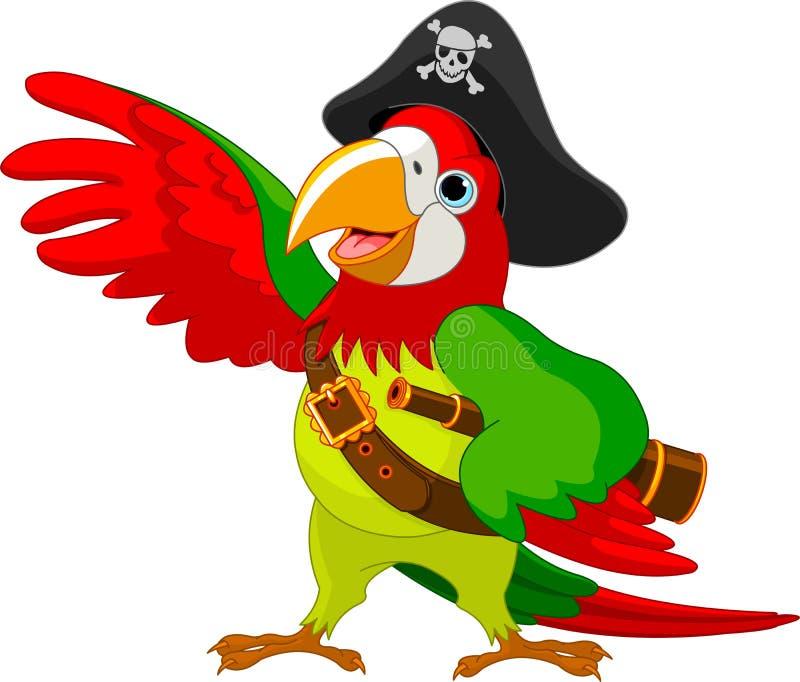 De Papegaai van de piraat stock illustratie