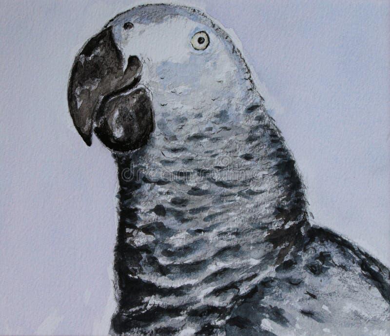 De Papegaai van Watercolour royalty-vrije stock foto