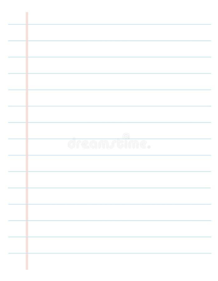 De papel alinhado/governou a página ilustração stock