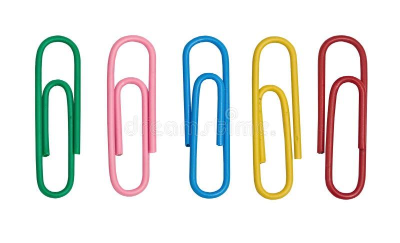 De paperclippen van de kleur royalty-vrije stock fotografie