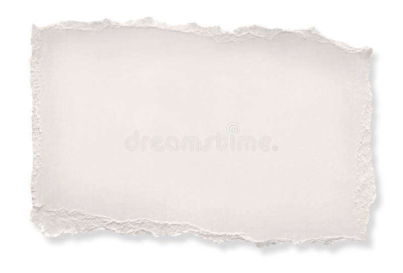 De papier déchiré (avec le chemin) images stock