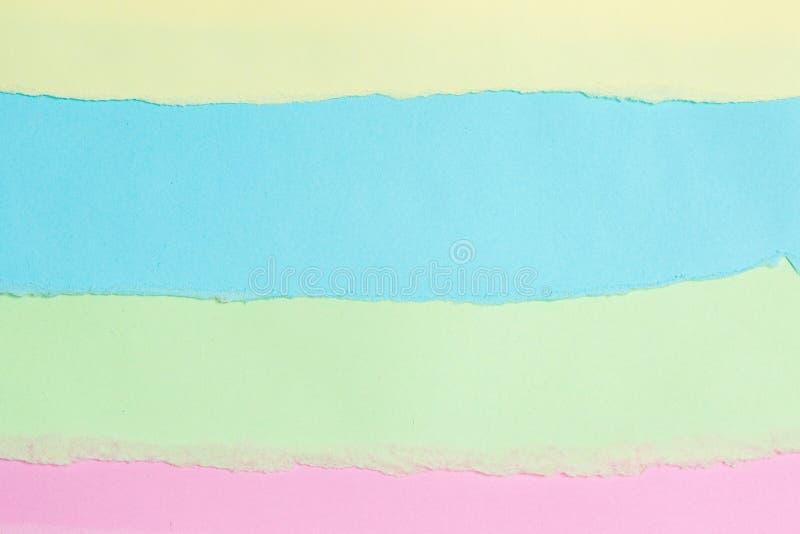 De papier déchiré, papier de couleur de larme avec l'espace pour le texte photos stock