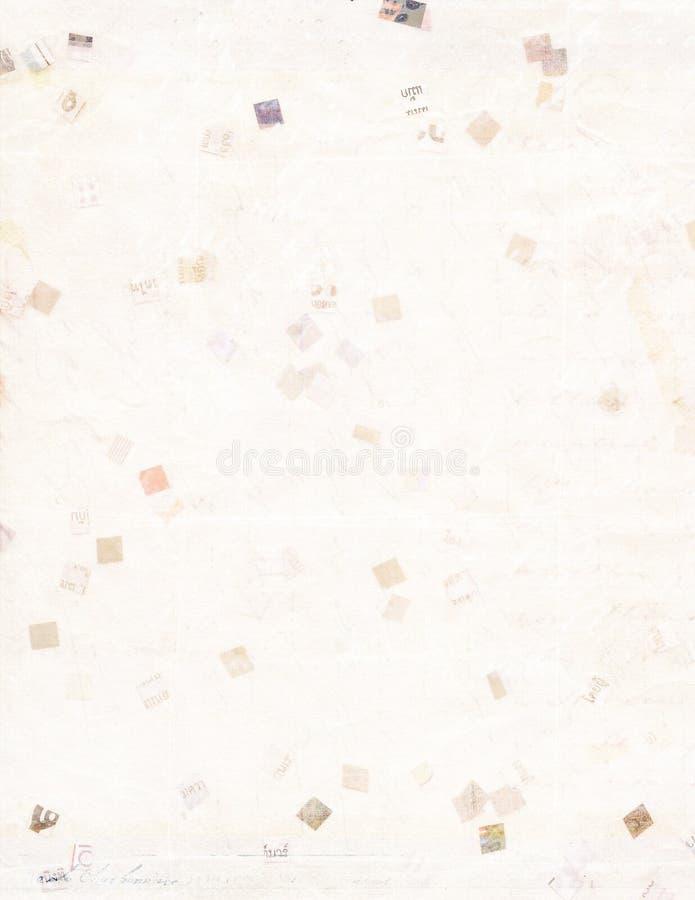 De papier réutilisé dans la taille A4 imprimable photo libre de droits