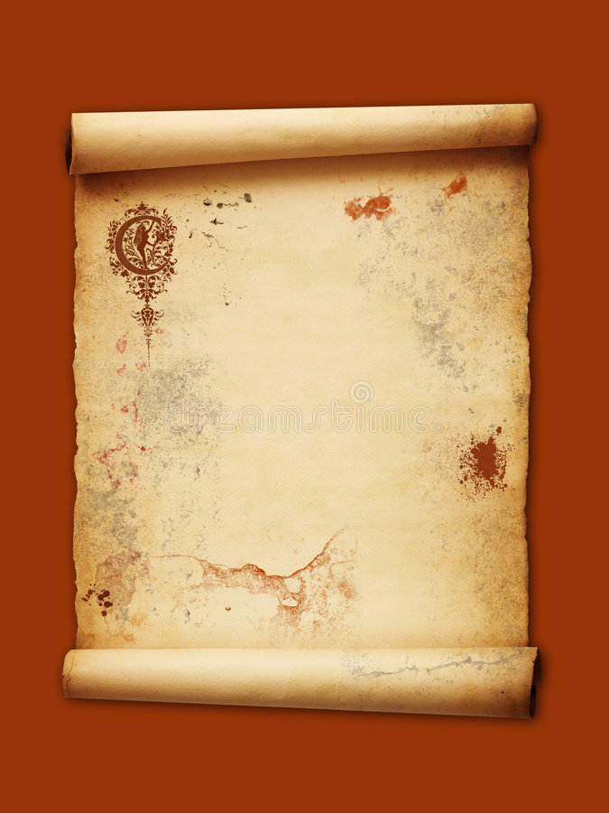 De papyrus van Grunge vector illustratie