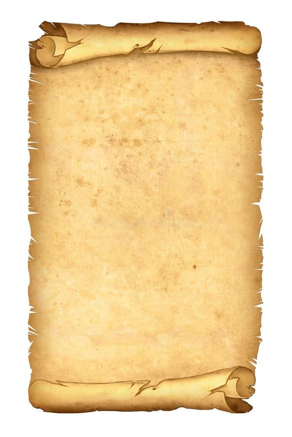 De papyrus van het perkament op wit royalty-vrije illustratie