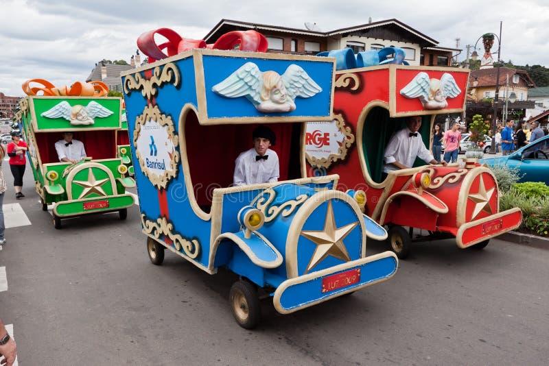De Parade Brazilië van Kerstmis van Gramado royalty-vrije stock foto's