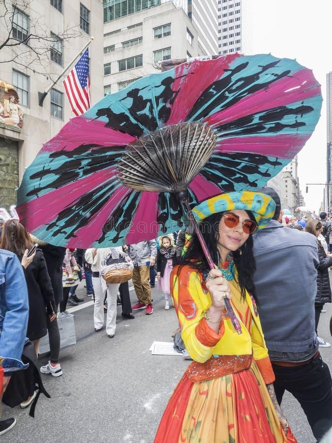 De Parade en de Bonnetfestival 2018 van Pasen stock afbeelding