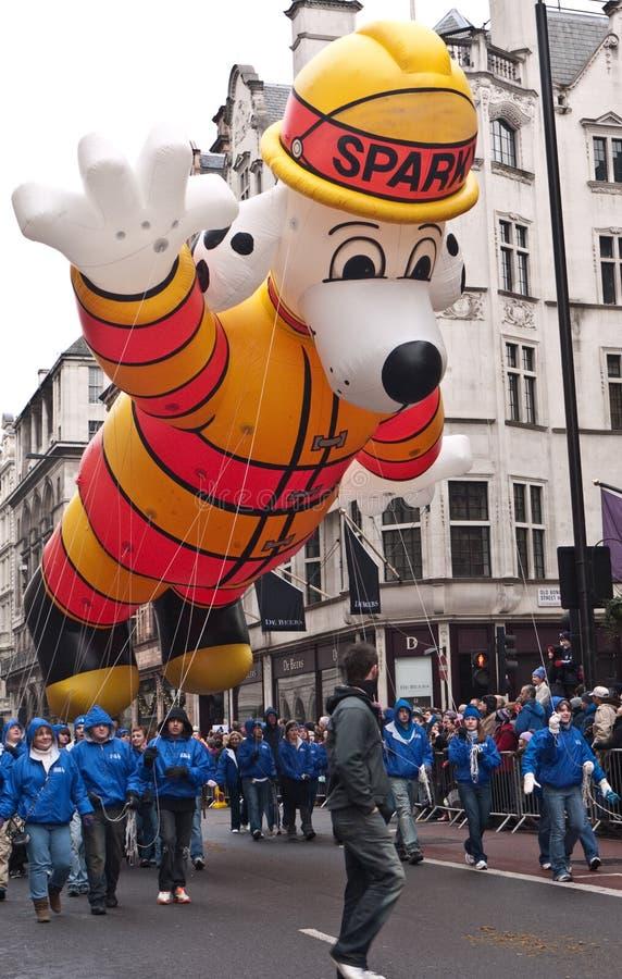 De Parade Londen van de nieuwjaarsdag. stock foto