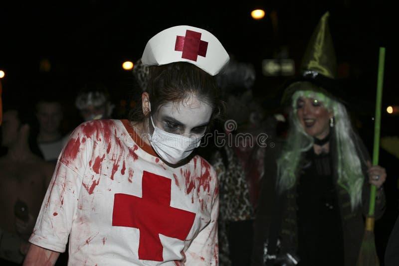 De parade NYC 5350 van Halloween stock fotografie