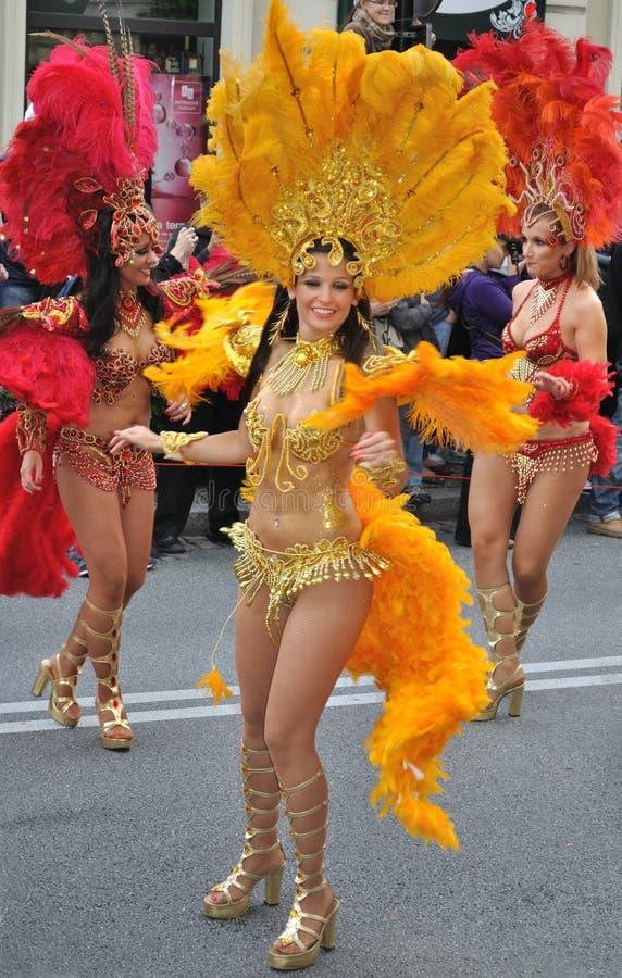 De Parade van Carnaval in Warshau royalty-vrije stock fotografie