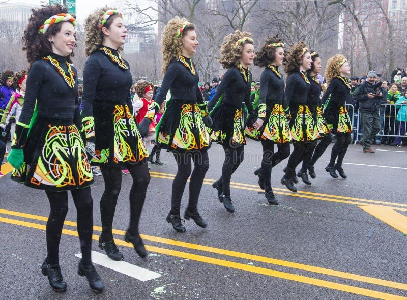 De parade van Chicago Heilige Patrick royalty-vrije stock afbeeldingen