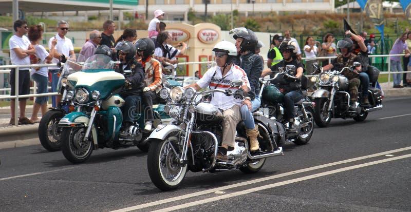 De parade van Davidson van Harley royalty-vrije stock afbeelding