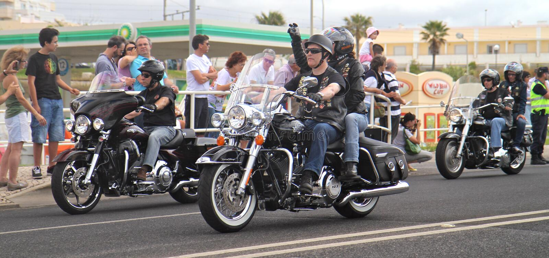 De parade van Davidson van Harley royalty-vrije stock foto's
