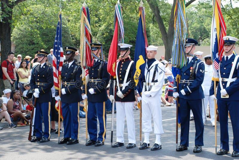De parade van de Dag van de Onafhankelijkheid van Americaâs 2008. royalty-vrije stock foto