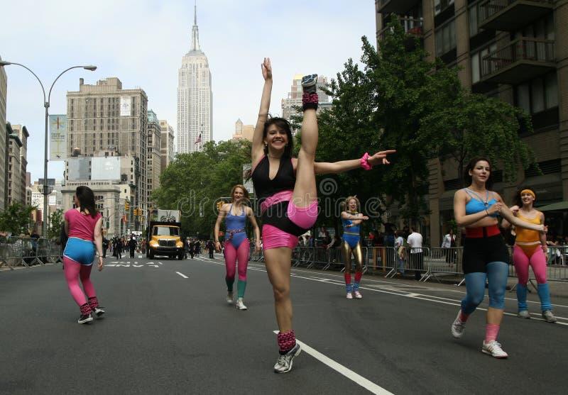 De Parade van de dans in New York stock fotografie