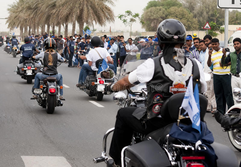 De Parade van de fietser stock foto's