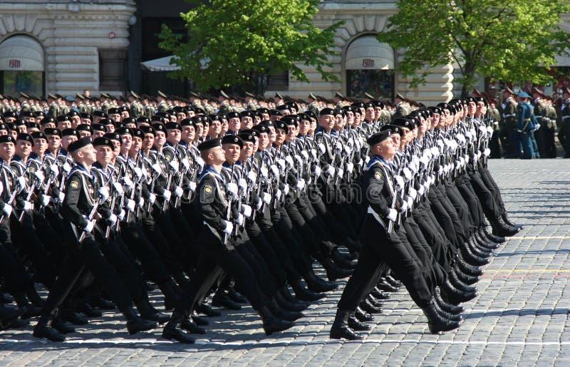 De parade van de overwinning stock afbeelding