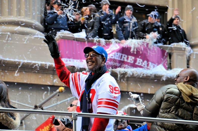 De Parade van de Overwinning van de Reuzen van New York stock foto
