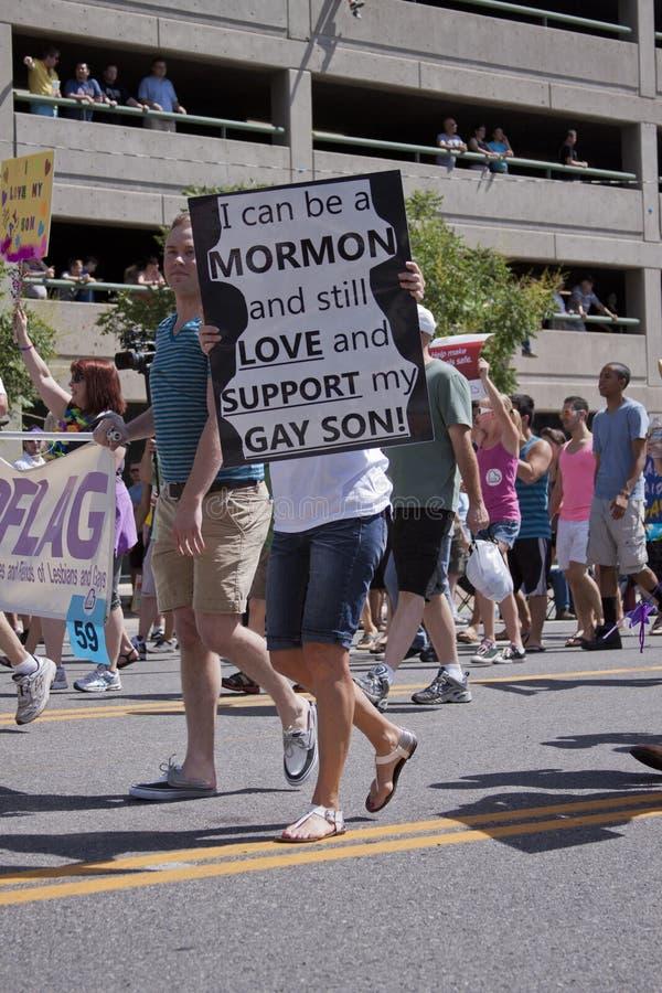 De Parade van de trots, 3 Juni, 2012. Salt Lake City, Utah stock foto