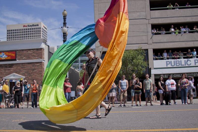De Parade van de trots, 3 Juni, 2012. Salt Lake City, Utah stock fotografie