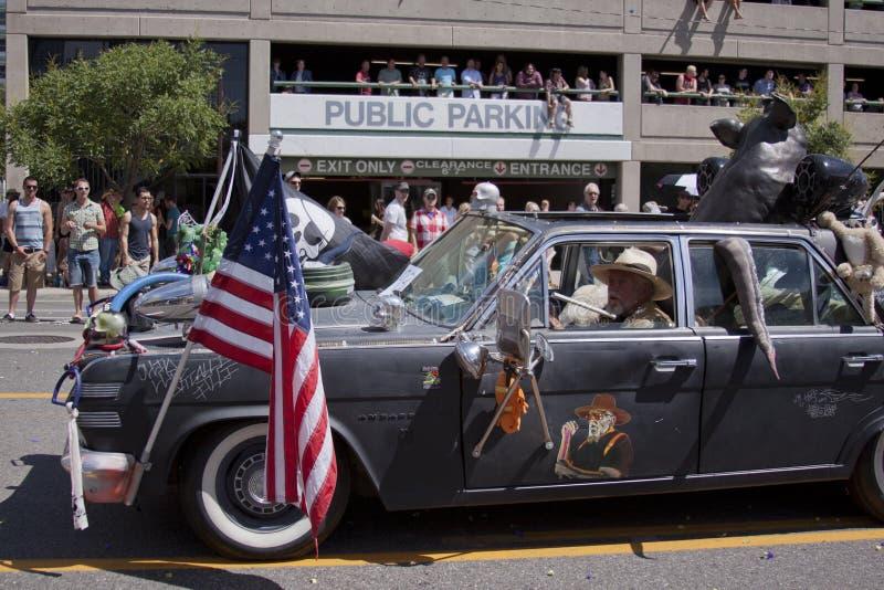 De Parade van de trots, 3 Juni, 2012. Salt Lake City, Utah royalty-vrije stock afbeelding