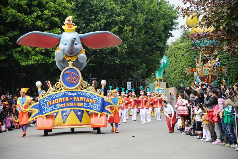 De Parade Van Disney In Hongkong Redactionele Stock Afbeelding