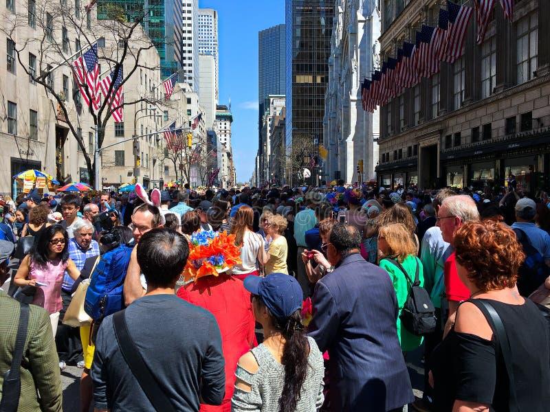 De Parade van Fifth Avenue Pasen in Stad -1 van New York stock foto's
