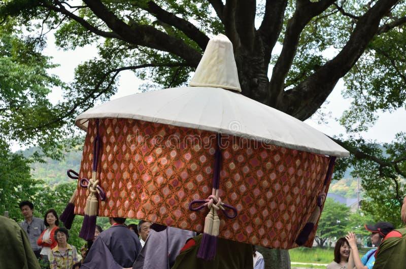De parade van het festival van Kyoto Aoi, Japan royalty-vrije stock fotografie