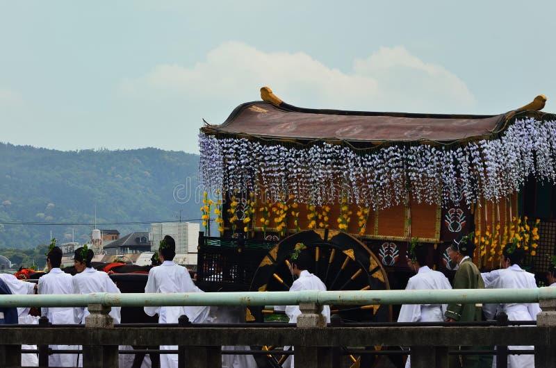 De parade van het festival van Kyoto Aoi, Japan stock afbeelding